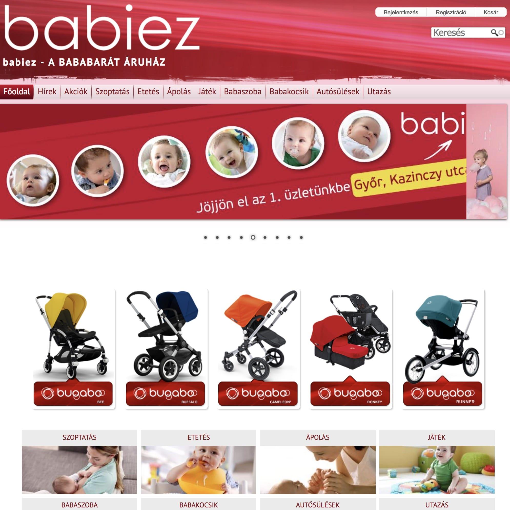 610bf18ff6 Babiez.hu - egyedi baba webáruház elkészült   MiniBolt.hu webáruház ...