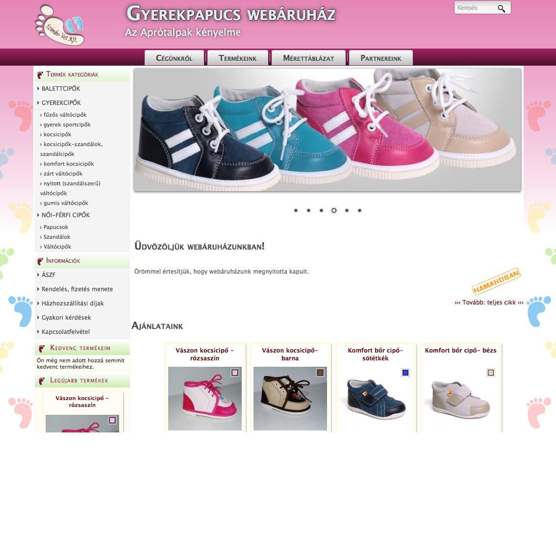 82d2683a8161 Gyerek papucs és cipő webshop   MiniBolt.hu webáruház készítés