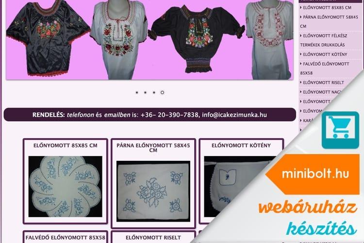 51f8ae3607 Ica kézimunka webshop készítés   MiniBolt.hu webáruház készítés